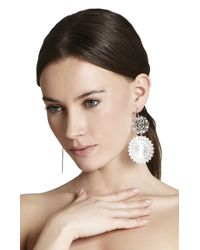 BCBGMAXAZRIA - Metallic Filigree Disc Earrings - Lyst