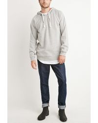 Forever 21 | Gray Brushed Knit Raglan Hoodie for Men | Lyst
