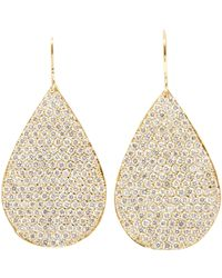 Irene Neuwirth - Metallic Pear-shaped Drop Earrings - Lyst