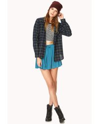 Forever 21 | Blue Classic Flannel | Lyst