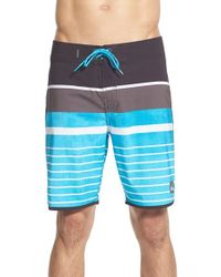 Quiksilver | Black 'everyday Scallop' Stripe Board Shorts for Men | Lyst