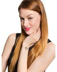 BaubleBar | Metallic Metal Block Monogram Bracelet | Lyst