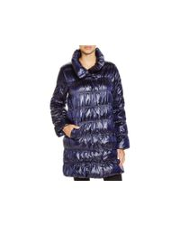 Eileen Fisher | Blue Down Puffer Coat - Bloomingdale's Exclusive | Lyst