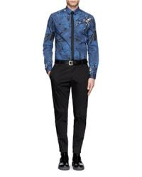 McQ - Blue Spider And Web Shirt for Men - Lyst