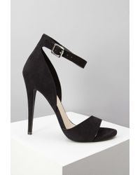 Forever 21 | Black Faux Suede Ankle Strap Sandals You've Been Added To The Waitlist | Lyst