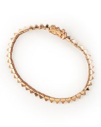 Eddie Borgo - Metallic Rose Gold Pyramid Tennis Bracelet - Lyst
