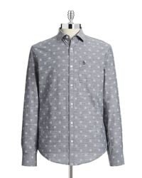 Original Penguin | Blue Slim-fit Chambray Shirt for Men | Lyst