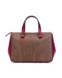 Etro - Brown Paisley Print Tote Bag - Lyst