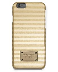 MICHAEL Michael Kors | 'candy Stripe' Iphone 6 & 6s Case - Metallic | Lyst