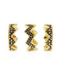 Eddie Borgo | Metallic Pavé Bear Trap Ring Set | Lyst