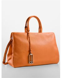 Calvin Klein | Orange Arslyne Soft Frame Satchel | Lyst