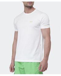 BOSS Green - White Crew Neck T-shirt for Men - Lyst