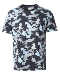 Wooyoungmi | Blue Camouflage Print T-Shirt for Men | Lyst