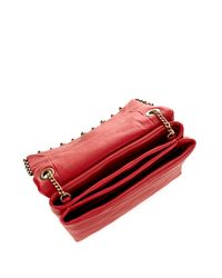 Lanvin - Red Sugar Mini Stud-Embellished Shoulder Bag - Lyst