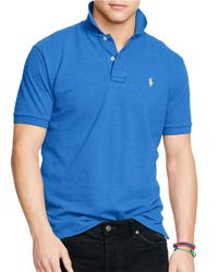 Polo Ralph Lauren | Blue Mesh Polo for Men | Lyst