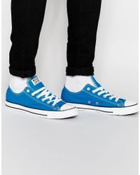 Converse | Blue Chuck Taylor All Star for Men | Lyst