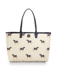 Tory Burch - Natural Kerrington Horseprint Shopper - Lyst