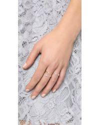 EF Collection - Metallic Open Diamond Trio Ring - Lyst