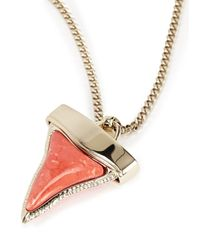Givenchy | Metallic Gold Tone And Enamel Shark Tooth Necklace | Lyst