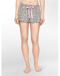 Calvin Klein | Multicolor Underwear Woven Leopard Print Sleep Shorts | Lyst