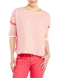 Maje | Pink Clementine Terry Sweatshirt | Lyst