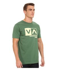 RVCA - Green Cut Out Box Tee for Men - Lyst
