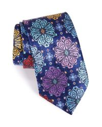 Ermenegildo Zegna | Blue Medallion Silk Tie for Men | Lyst