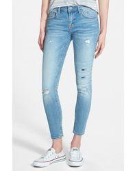 Vigoss - Blue Distressed Skinny Jeans - Lyst