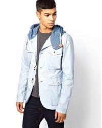 PRPS | Blue Prps Sport Jacket With Hood for Men | Lyst