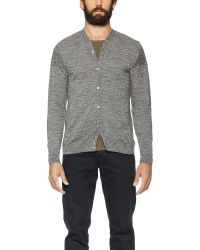S.N.S Herning - Gray Intro Cardigan for Men - Lyst