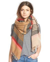 Hinge | Brown 'Jacquard Stripe Scarf | Lyst