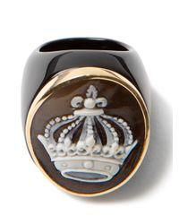 Amedeo - Black Crown Onyx Ring - Lyst