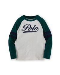 Ralph Lauren | Natural Cotton Baseball Tee for Men | Lyst