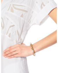 Lucy Folk | Metallic Golden Sun Crochet Pearly Bracelet | Lyst