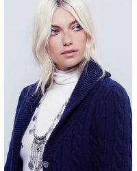 Free People - Blue Viceroy Cardi - Lyst