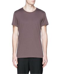 Acne Studios - Brown 'standard' Cotton Jersey T-shirt for Men - Lyst