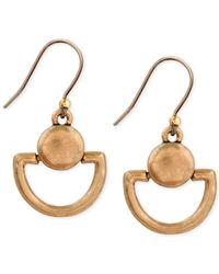 Lucky Brand | Metallic Mini Doorknocker Earrings | Lyst