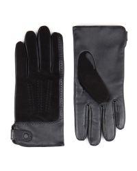 Ted Baker - Black Suede Panel Gloves for Men - Lyst