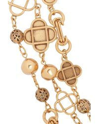 Oscar de la Renta - Metallic Mosaico Goldplated Swarovski Crystal Necklace - Lyst