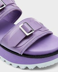 HUNTER | Purple Women's Original Double Buckle Mid Flatform | Lyst