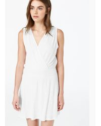 Mango | Natural Textured Dress | Lyst