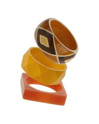 TOPSHOP | Orange Tribal Bangle Pack | Lyst