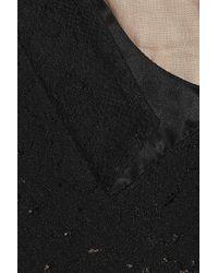 N°21 - Black Lace And Velvet Dress - Lyst