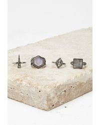 Forever 21 | Metallic Faux Mother-of-pearl Ring Set | Lyst