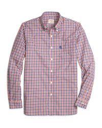 Brooks Brothers - Orange Gingham Sport Shirt for Men - Lyst