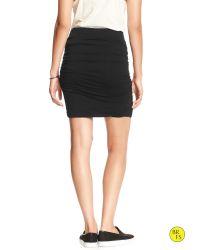 Banana Republic   Black Factory Ruched Mini Skirt   Lyst
