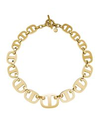 Michael Kors | Metallic Golden Maritime Link Necklace | Lyst