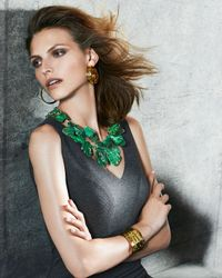 Nest - Green Chunky Emerald Jasper Necklace - Lyst