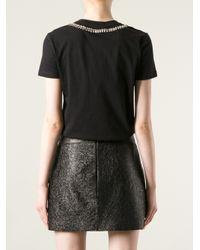 Alexander McQueen - Black Bead Embellished T-Shirt - Lyst