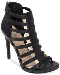 Jessica Simpson | Black Riahn Caged Dress Sandals | Lyst